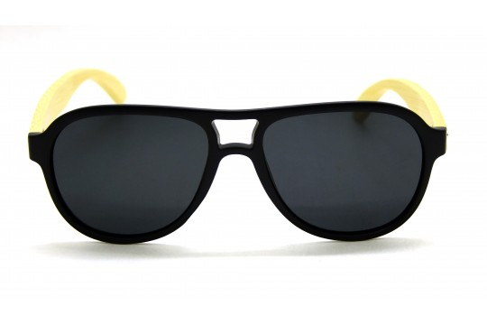 Óculos de Sol Bambu Masculino Preto Fosco - 2002PF