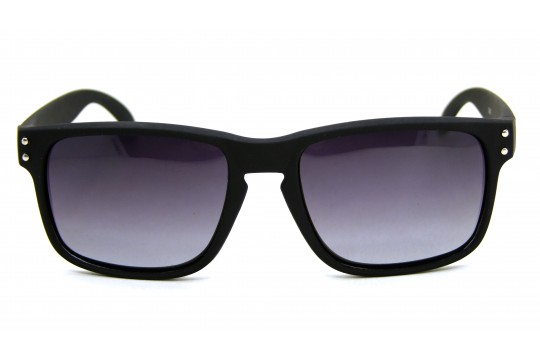 Óculos de Sol Acetato Masculino Preto Fosco Detalhe Prata - 5205PFDP