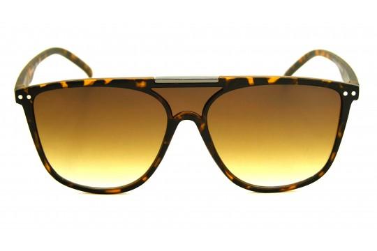 Óculos de Sol Acetato Unissex Estampado Marrom - 59006EM