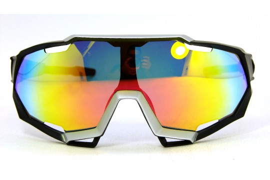 Óculos de Sol Esportivo Unissex Preto Foco Lt Laranja - 9312PFL