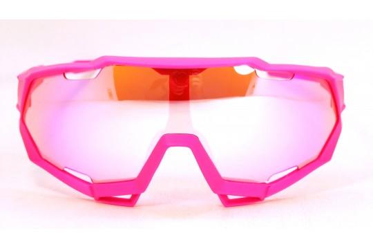 Óculos de Sol Esportivo Unissex Rosa - 9312R