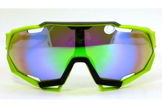 Óculos de Sol Esportivo Unissex Verde Lt Verde - 9312VV