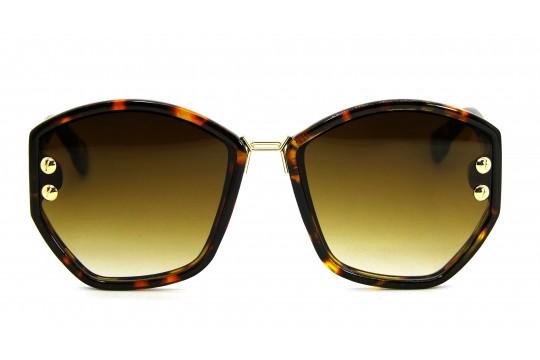 Óculos de Sol Acetato Feminino Estampado Marrom - BB8041EM