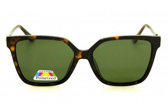 Óculos de Sol Acetato Feminino Estampado Marrom Lt Verde - BB8094EMV