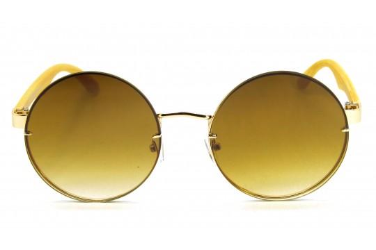Óculos de Sol Metal Feminino Dourado Lt Marrom Degrade  - DOZ71150DMD