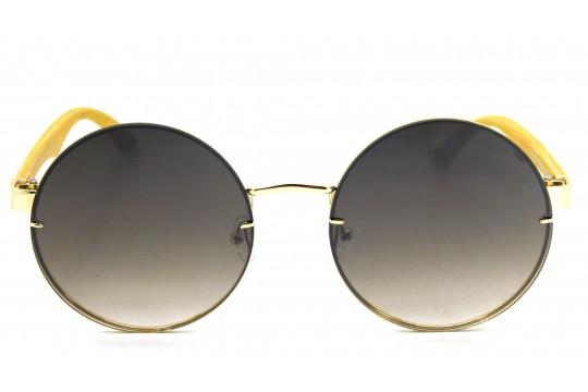 Óculos de Sol Metal Feminino Dourado Lt Preta Degrade  - DOZ71150DPD