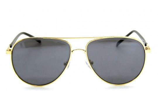 Óculos de Sol Metal Unissex Dourado Lt Preto - H7513DP