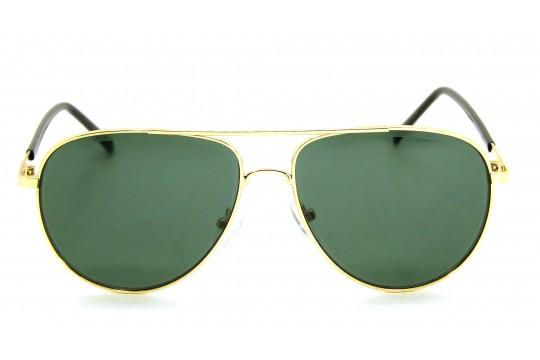Óculos de Sol Metal Unissex Dourado Lt Verde - H7513DV