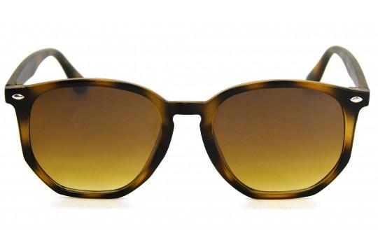 Óculos de Sol Acetato Unissex Estampado Marrom - HP1854EM