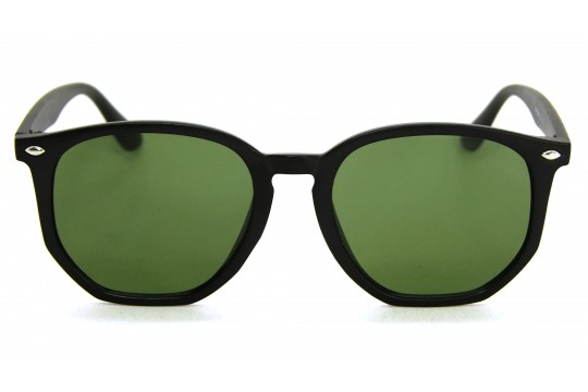Óculos de Sol Acetato Unissex Preto Fosco Lt Verde - HP1854PFV