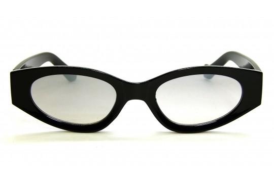 Óculos de Sol Acetato Feminino Retro Preto Lt Prata - HP202298PP