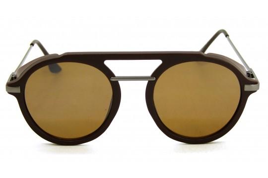 Óculos de Sol Acetato Unissex Marrom c/ Grafite - HP202316MG