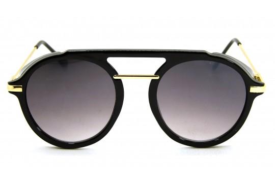 Óculos de Sol Acetato Unissex Preto c/ Dourado - HP202316PD