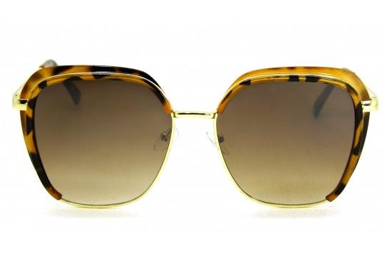 Óculos de Sol Acetato Feminino Estampado Marrom - HT1538EM