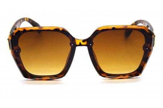 Óculos de Sol Acetato Feminino Estampado Marrom - JQ7999EM