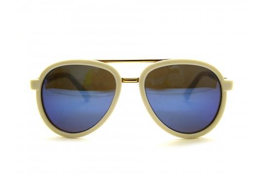 Óculos de Sol Acetato Infantil Feminino Branco - KP4023B