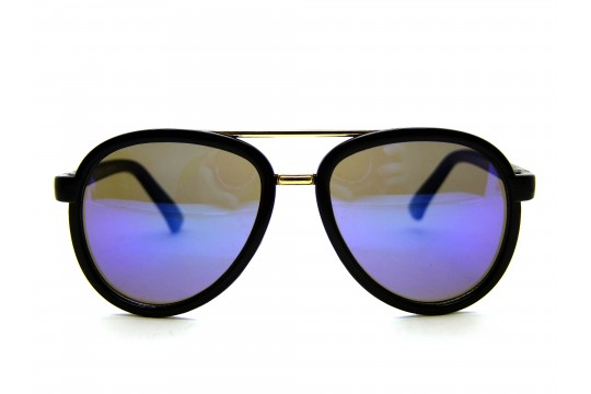Óculos de Sol Acetato Infantil Feminino Preto e Azul - KP4023PA