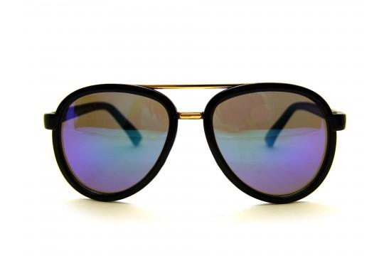 Óculos de Sol Acetato Infantil Feminino Preto e Verde - KP4023PV