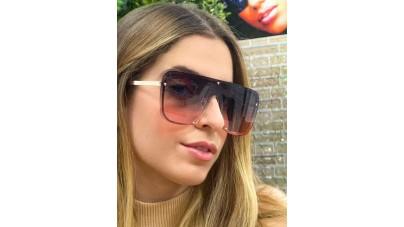 Oculos De Sol Metal Unissex Do...